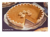 Pumpkin Pie with Walnuts Print