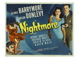 Nightmare, Diana Barrymore, Brian Donlevy, 1942 Lámina