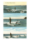 Surfing Scenes, Hawaii Posters