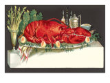 Huge Lobster on Serving Platter Prints