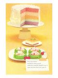 Rainbow Cake, Desserts Prints
