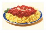 Spaghetti Bolognese Premium Giclée-tryk