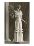 Twenties Mannequin with Ruffles and Feathers Posters