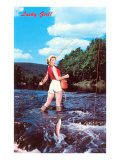 Lucky Girl! Fishing Prints
