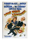 Look Who's Laughing, Jim Jordan, Marian Jordan, Edgar Bergen, Charlie Mccarthy, 1941 Poster