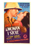 The Woman I Stole, Jack Holt, Fay Wray on Midget Window Card, 1933 Kunstdrucke