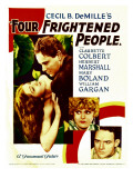 Four Frightened People, Claudette Colbert, Herbert Marshall, 1934 Affiches