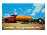 Giant Ear of Corn on Back of Truck Art