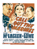 Call Out the Marines, Victor Mclaglen, Binnie Barnes, Edmund Lowe on Window Card, 1942 Posters