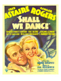 Shall We Dance, Fred Astaire, Ginger Rogers on Window Card, 1937 Photo
