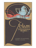 Felan's Household Wares, Art Deco Tea Set, Lobster Prints