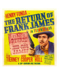 The Return of Frank James, Henry Fonda on Window Card, 1940 Print