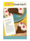 Recipe for Chocolate Fudge Pie Print