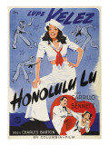 Honolulu Lu, Lupe Velez on Swedish Poster Art, 1941 Photo
