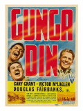Gunga Din, Cary Grant, Victor Mclaglen, 1939 Poster