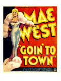 Goin' to Town, Mae West on Window Card, 1935 Posters