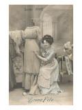 Bonne Fete, Sainte Anne, Dressmaker and Dummy Prints