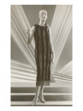 Twenties Mannequin in Sheath with Cigarette Holder Prints