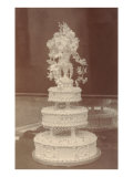 Ornate Wedding Cake Poster