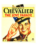 The Love Parade, Maurice Chevalier on Window Card, 1929 Print
