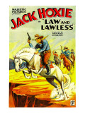 Law and Lawless, Jack Hoxie, 1932 Affiches