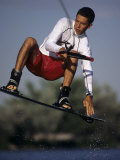 Wakeboarder in Action Photographic Print
