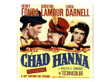 Chad Hanna, Henry Fonda, Dorothy Lamour, Linda Darnell on Window Card, 1940 Photo