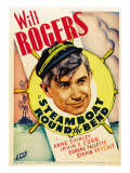Steamboat Round the Bend, Will Rogers on Midget Window Card, 1935 Lámina