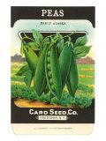 Pea Seed Packet Prints