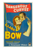 Dangerous Curves, Clara Bow, Richard Arlen, 1929 Plakater