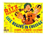 Life Begins in College, the Ritz Brothers (Al, Harry, Jimmy), 1937 Photo