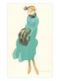 French Fashion Illustration Poster
