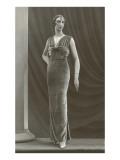 Twenties Mannequin in Long Velvet Dress Prints