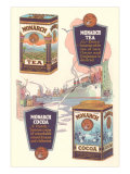 Advertisement for Monarch Cocoa and Tea Kunstdrucke