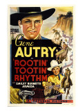Rootin' Tootin' Rhythm, Top and Bottom: Gene Autry, 1937 Plakaty