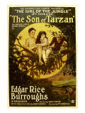 The Son of Tarzan, Gordon Griffith, Mae Giraci in 'Episode 3: the Girl of the Jungle', 1920 Print