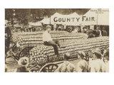 Man Sitting on Giant Ear of Corn Prints