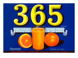 365 Orange Crate Label Posters