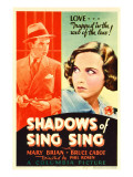 Shadows of Sing Sing, Bruce Cabot, Mary Brian on Midget Window Card, 1933 Photo