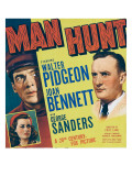 Man Hunt, Walter Pidgeon, Joan Bennett, 1941 Prints