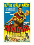 The Invaders (Aka 49th Parallel), Laurence Olivier, Glynis Johns, 1941 Plakát