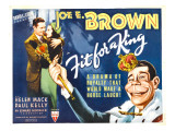 Fit for a King, Joe E. Brown, Helen Mack, Joe E. Brown in Caricature (Far Right), 1937 Posters