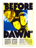 Before Dawn, Warner Oland, Dudley Digges, Dorothy Wilson, Stuart Erwin on Midget Window Card, 1933 Affiches