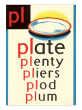 PL for Plate Posters