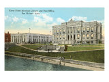 Library and Post Office, Des Moines, Iowa Posters