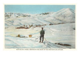 Skiing in Sun Valley, Idaho Poster