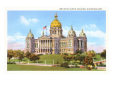 State Capitol, Des Moines, Iowa Poster