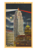 Night, Lincoln Tower, Ft. Wayne, Indiana Posters