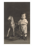 Little Boy with Hobby Horse Posters