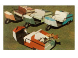Golf Carts Prints